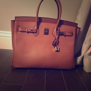 Handbags - birkin inspired. Minor wear. Missing front latch